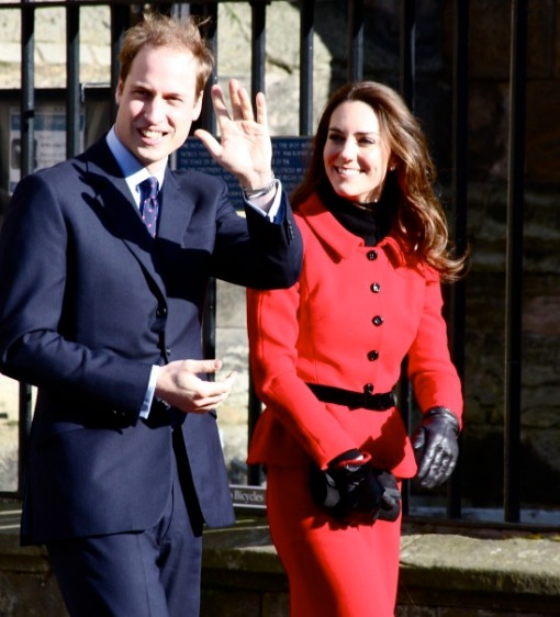 Prince William and Kate Middleton on a recent visit St Andrew's